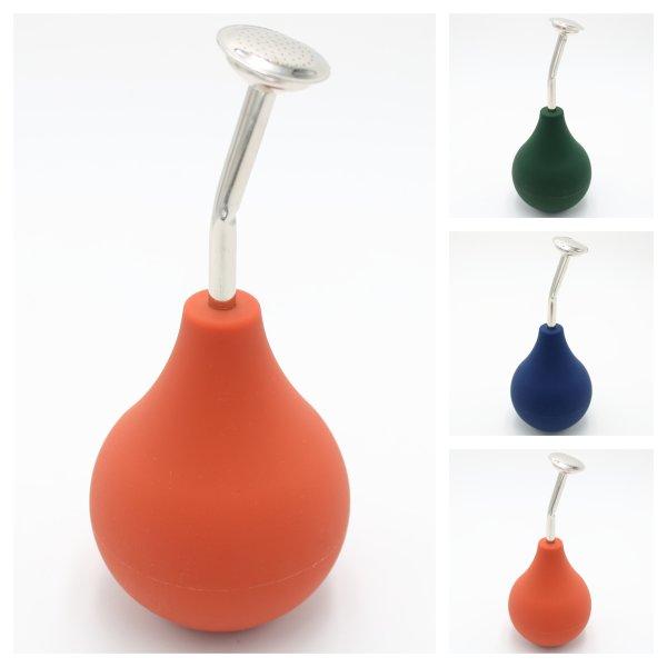 Gießbrause aus Gummi für Anzucht mit Metall-Auslass - 250ml, versch. Farben